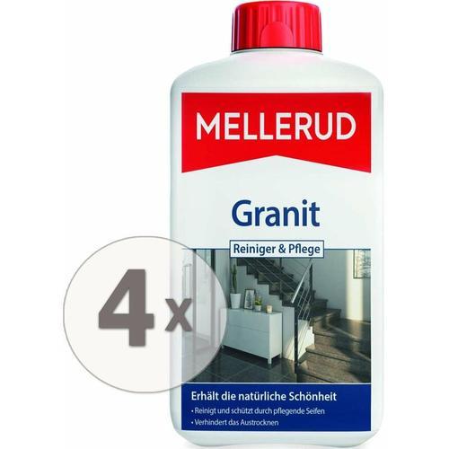 4 x 1 Liter Granitboden Reiniger und Pflege für innen & außen - Mellerud