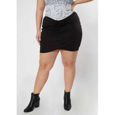 Rue21 Womens Plus Size Black Tulip Hem Bodycon Skirt - Size 1X