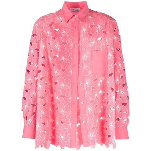 RED Valentino Hemd mit Blumen-Print