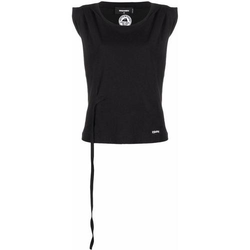 DSquared² T-Shirt mit gebundener Taille