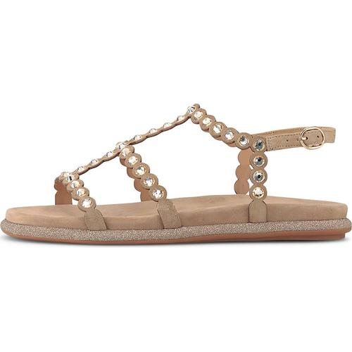 Alma en Pena, Ethno-Sandale in beige, Sandalen für Damen Gr. 41