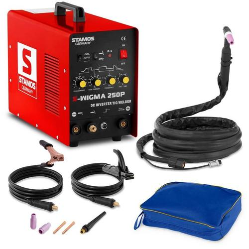 Stamos Welding - Schweißgerät Wig DC mma E Hand Hf Puls Schutzgas 250 A 60 % Ed Stamos
