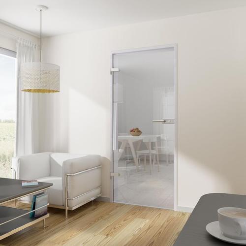 Tür Drehtür Glastür 834x1972 DIN links mit Beschlag ESG klar Wohnungstür - Tür + Beschlag DB80