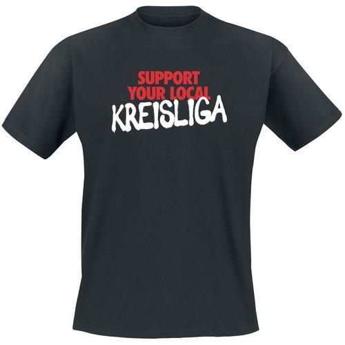Support Kreisliga Herren-T-Shirt - schwarz - Offizieller & Lizenzierter Fanartikel