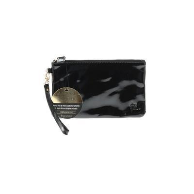 Handbag Butler Wristlet: Black Solid Bags