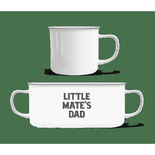 Little Mates Dad - Emaille-Tasse