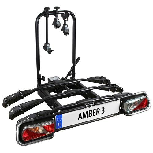 EUFAB Kupplungsfahrradträger AMBER 3 schwarz Fahrradträger Autozubehör Reifen