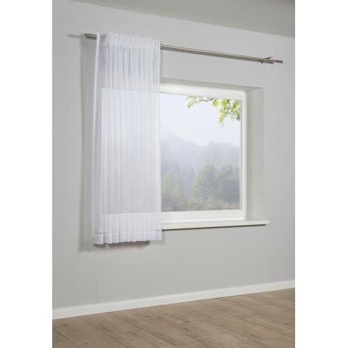 GARDINIA Gardine Schal mit Gardinenband Voile Uni, Vorhang weiß Wohnzimmergardinen Gardinen nach Räumen Vorhänge