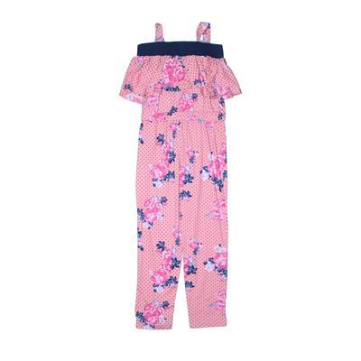 Girls Jumpsuit: Pink Floral Skirts & Jumpsuits - Size 4Toddler