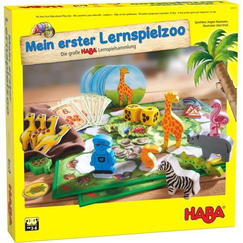 Haba Spielesammlung Mein erster Lernspielzoo, Made in Germany bunt Kinder Gesellschaftsspiele