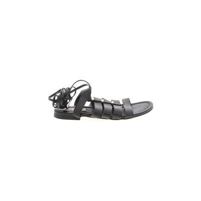 Steve Madden Sandals: Black Solid Shoes - Size 6