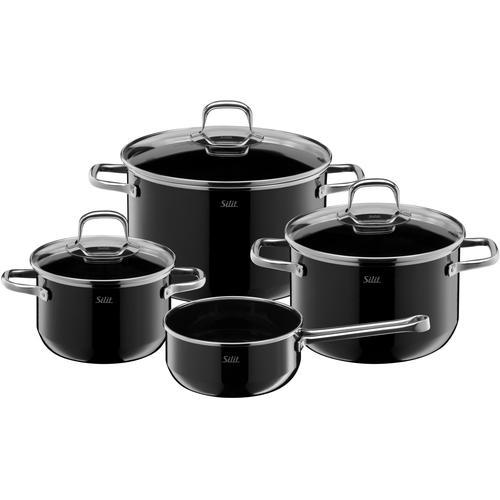 Silit Topf-Set Elegance Line, Silargan, (Set, 4 tlg.), induktionsgeeignet schwarz Topfsets Töpfe Haushaltswaren