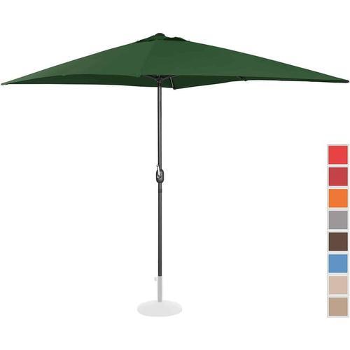Sonnenschirm groß Gartenschirm (rechteckig, 200 x 300 cm, grün) - Uniprodo