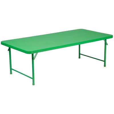 Flash Furniture - Flash Furniture RB-3060-KID-GN-GG Rectangular Kid's Folding Table w/ Green Plastic Top - 60