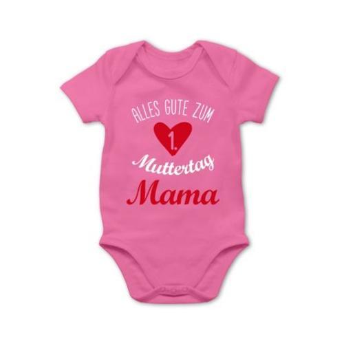 Muttertagsgeschenk Tochter & Sohn Baby Alles gute zum ersten Muttertag Bodys Kinder pink Baby