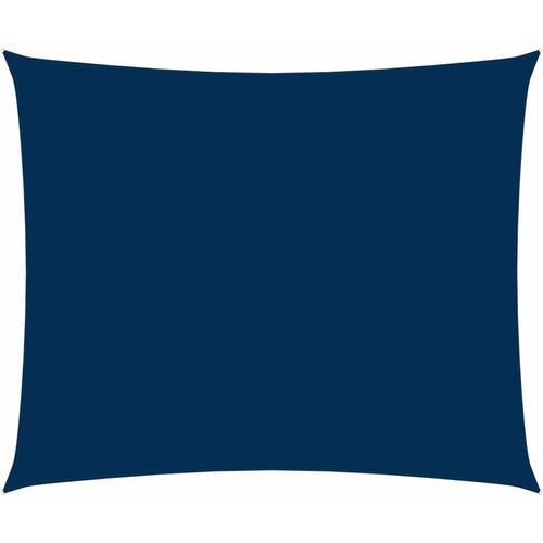 Sonnensegel Oxford-Gewebe Rechteckig 6x7 m Blau