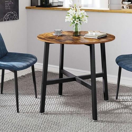 Songmics - VASAGLE Esstisch klein, runder Küchentisch, für Wohnzimmer, Büro, 80 x 75 cm (Ø x H),