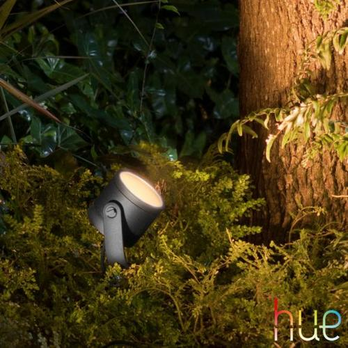 PHILIPS Hue White & Ambiance Lily XL RGBW LED Strahler B: 11,2 H: 19 T: 11,2 cm, schwarz 1746230P7, EEK: A+
