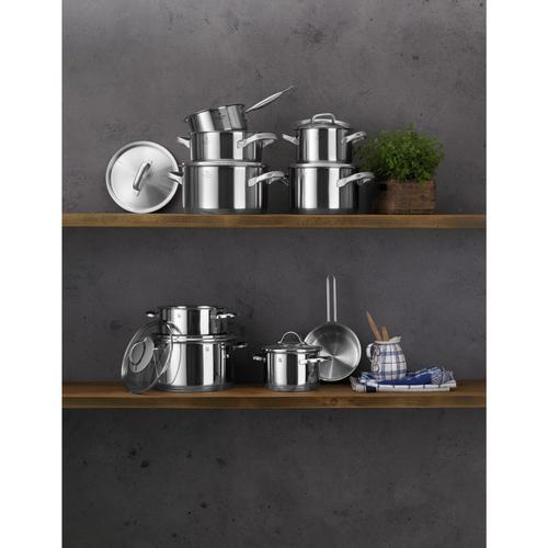 WMF Topf-Set Gourmet Plus, Cromargan Edelstahl Rostfrei 18/10, (Set, 5 tlg.), induktionsgeeignet silberfarben Topfsets Töpfe Haushaltswaren