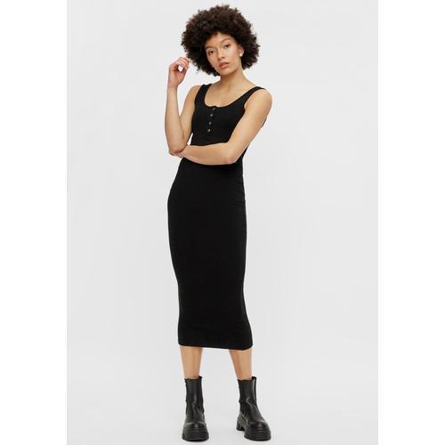 pieces Jerseykleid PCKITTE schwarz Damen Shirtkleider Kleider