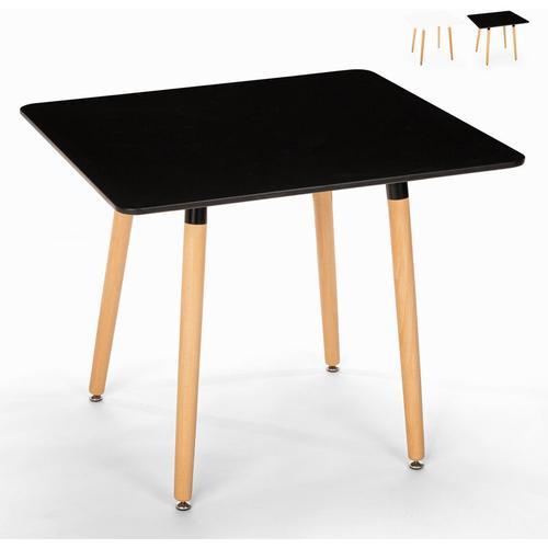 Ahd Amazing Home Design - Quadratischer Tisch 80x80 in nordischem Design Holz für Küche Bar