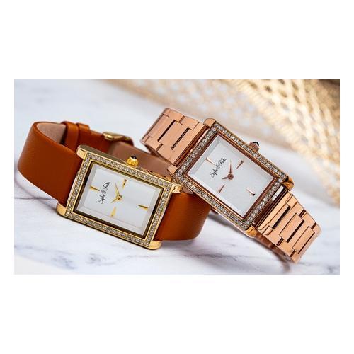 Sophie&Freda Armbanduhr mit Swarovski®-Kristallen: Silber