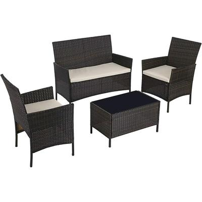 Garden Furniture Sets-4, Polyrattan Outdoor Patio Furniture, Conservatory PE Wicker Furniture, for