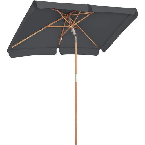 Sonnenschirm für den Balkon, 200 x 125cm, rechteckiger Balkonschirm, Sonnenschutz bis UPF 50+,