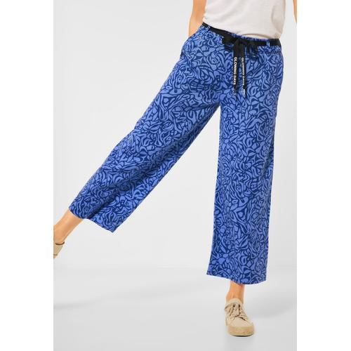 STREET ONE 7/8-Hose, mit Bindegürtel blau Damen Weite Hosen 7/8-Hose