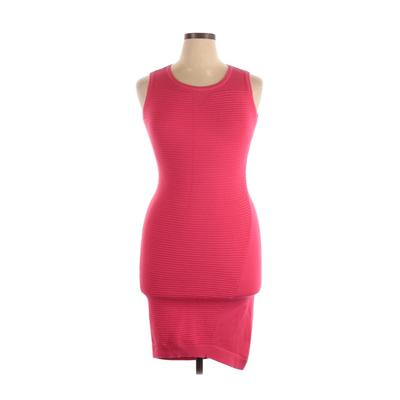 Karen Millen Casual Dress - Bodycon: Pink Solid Dresses - Used - Size Large