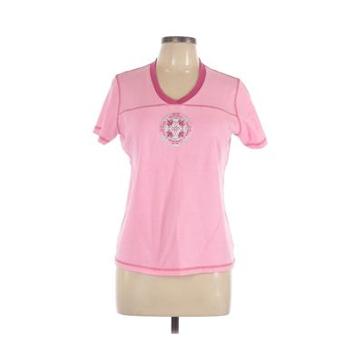 SB Active Short Sleeve Top Pink Color Block Tops - Used - Size Large