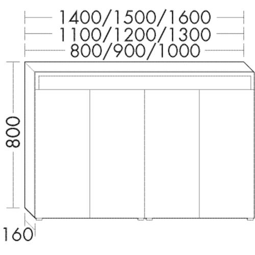 Burgbad Spiegelschrank Sys30 PG4 800x1200x160 Weiß Hochglanz, SPIC120F3359 SPIC120F3359