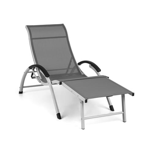 Blumfeldt blumfeldt Sunnyvale Liegestuhl mit Fußteil Aluminium 4-Stufen