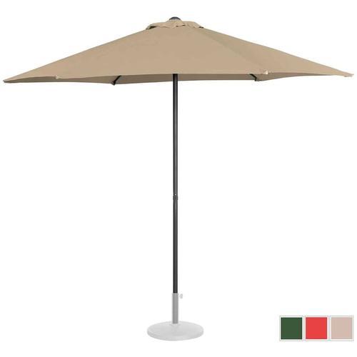 Sonnenschirm groß Sonnenschirm Terrasse Gartenschirm taupe sechseckig ? 270 cm