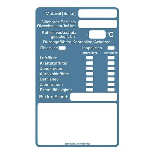 2 Rollen je 250 Kundendienst-Aufkleber »Inspektion« blau, EICHNER, 6x4 cm