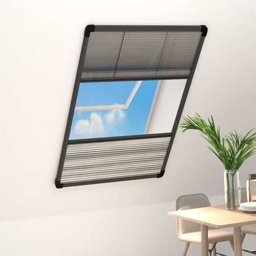 Insektenschutz-Plissee für Fenster Alu 100x160 cm mit Jalousie
