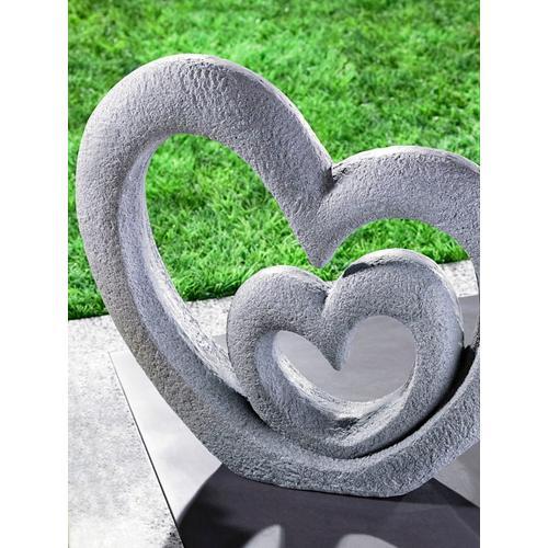 Skulptur 'Herzen' TRI Grau