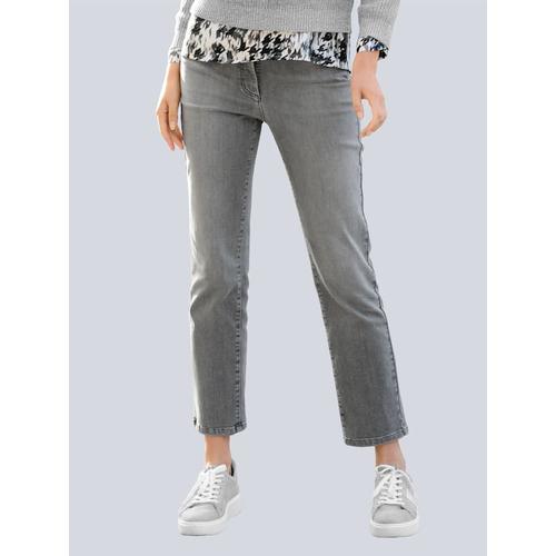 Alba Moda, Jeans mit hoher Leibhöhe, weiß