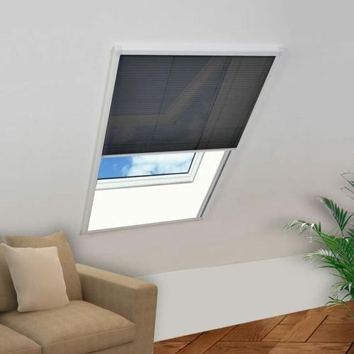 Insektenschutz-Plissee für Fenster Aluminium 60x160 cm
