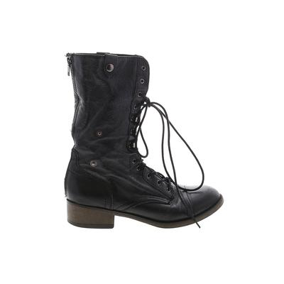 Steve Madden Boots: Black Solid Shoes - Size 8