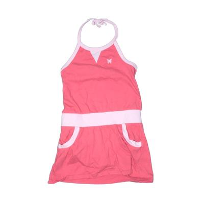 Old Navy Romper: Pink Solid Skirts & Rompers - Size 4Toddler