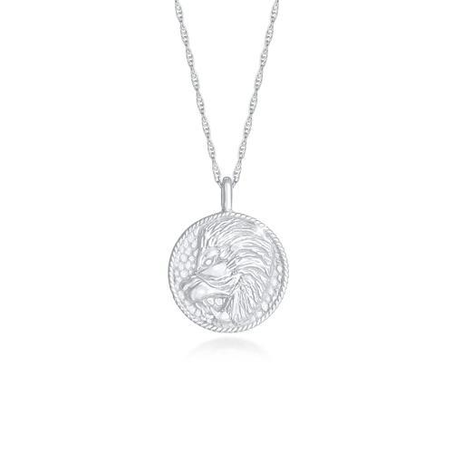 Halskette Sternzeichen Löwe Münze 925 Silber Elli Silber