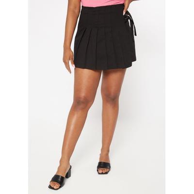Rue21 Womens Black Side Buckle Pleated Skirt - Size S