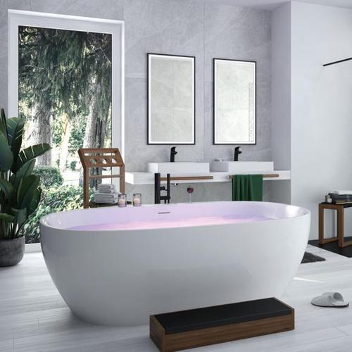 Hoesch iSENSI Freistehende Oval-Badewanne L: 190 B: 120 H: 60 cm ohne Wanneneinlauf 3823.010