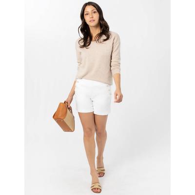 J.McLaughlin Women's Dominca Denim Shorts White, Size 6