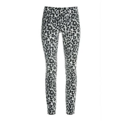 Boston Proper - Leopard Ankle Jean - Black/white - 27