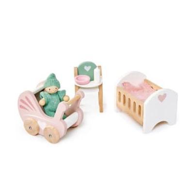 Tender Leaf Toys - Dolls House Nursery Set