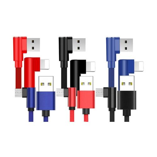 Kabel: Micro-USB / 2x 2 m /Rot