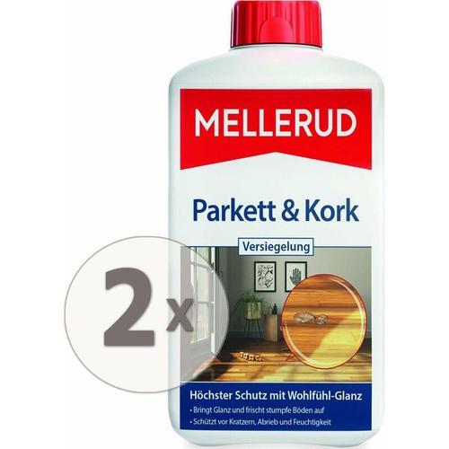 2 x 1 Liter Parkett & Kork Versiegelung Pflege & Glanz ohne polieren - Mellerud