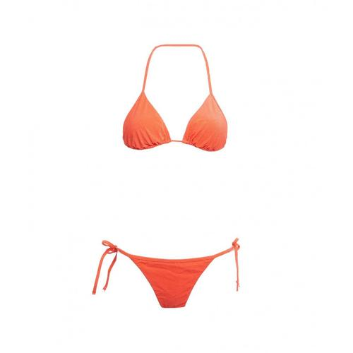 F**K Damen Triangel-Bikini mit Slip Rot